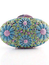 Women's Fashion Rose Design Rhinestone Evening Bag Handbag