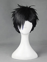 Cosplay Wigs Cosplay Cosplay Black Short Anime Cosplay Wigs 30 CM Heat Resistant Fiber Male / Female