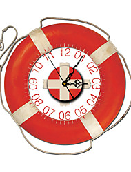pag®vintage 3D-Effekt roten Rettungsring Wanduhr 15,7 * 15,7 Zoll / 40 * 40cm