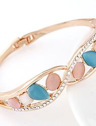 European Style Fashion Metal Trend Opal Rhinestone Bracelet