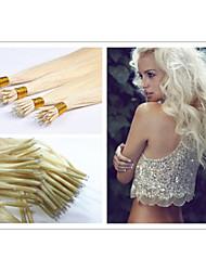 """18 """"-30"""" # 1b, n ° 2, n ° 4, n ° 6, N ° 27, # 613 nano extension100s cheveux anneau / lot 1g brésiliens extensions de cheveux / s vierges"""