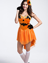 Halloween/Carnival Pumpkin clothes Female Burlesque Costumes Cosplay Costumes Skirt/Hats
