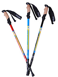 KORAMAN Outdoor Carbon Retractable 3-Section Ultralight Walking Pole Hiking pole 1-pc