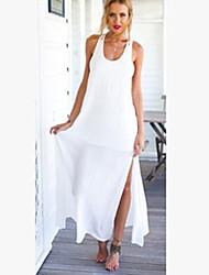 NUNEU   Women's Sexy Round Sleeveless Dresses (Chiffon)
