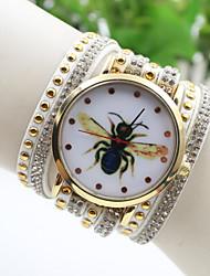 женской моды пчелы национальной кристалл заклепки югу стиль Корея браслет часы