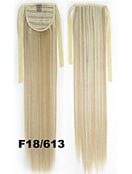 80g 55cm Straight Ponytail Wig High Temperature Wire Fiber  F18 / 613