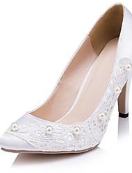 Mujer Zapatos de boda Tacones Tacones Boda/Fiesta y Noche Blanco