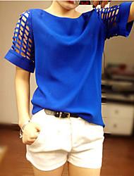 Informell FRAUEN - T-Shirts ( Baumwolle/Polyester )