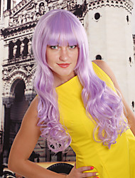 Frauen synthetischen lila Perücke wellig 20-Zoll-