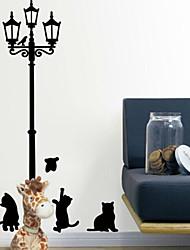 adesivos de parede adesivos de parede, mini desenhos animados dos gatos pretos adesivo de parede de pvc
