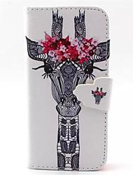 Pour iPhone 8 iPhone 8 Plus Coque iPhone 5 Etuis coque Portefeuille Avec Support Clapet Coque Intégrale Coque Animal Dur Cuir PU pour