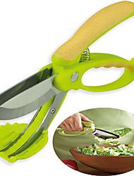 atirar e pique salada tesoura pinças fruto legume ferramenta cortadores de cozinha