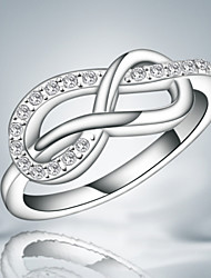 2016 Infinity Fashion Luxury Zircon Sterling Silver Band Ring For Women