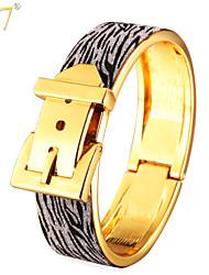 U7® Unisex Special Design New Trendy Women/Men Jewelry 18K Gold/Platinum Plated Glitter Fabric Belt Bracelets Bangles