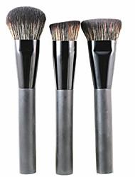 3 Makeup Brushes Set / Blush Brush / Powder Brush / Foundation Brush Synthetic HairProfessional / Travel / Synthetic / Eco-friendly /