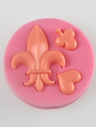 The Hearts Of Spades Fondant Cake Chocolate Silicone Mold, Decoration Tools Bakeware