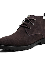 Men's Shoes Casual Suede Boots Black / Brown