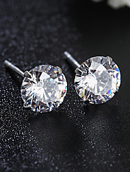 japon et de cristal en argent stud boucles d'oreilles de la Corée du Sud de style