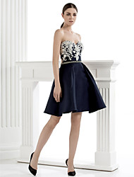 Homecoming TS Couture® Cocktail Party Dress - A-line Sweetheart Knee-length Satin