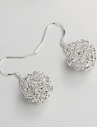 S925 Silver Drop Earring Design for Women Hollow Out Ball Design Drop Earring Gift for lovers