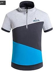 JESUNLOM®Man's Polo Shirt Fashion Slim Short Sleeve Sport Style T-shirt Korean Style Summer Casual Stand Collar Shirt