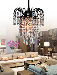 Luxuriant Flush Mount with Crystal Lampshade