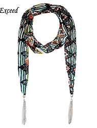 D Exceed  Luxury Jewelry Shawls And Scarves Bohemia Striped Chiffon Tassel Winter Scarf Necklace For Women's Scarves