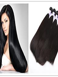 3pcs / lot New Arrival 100% virgens atacado madeixas de cabelo brasileiros, 100% brasileira retas tecidos trama do cabelo virgem