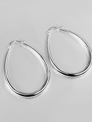 2015 New Design Italy Style Silver Plated Africa Design Hoop Earrings High Quality