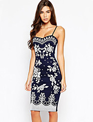 A.H.W Women's Straps Dresses , Cotton Sexy/Casual/Party Sleeveless A.H.W