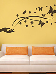 Wall Stickers Wall Decals Style Flying Butterflies PVC Wall Stickers