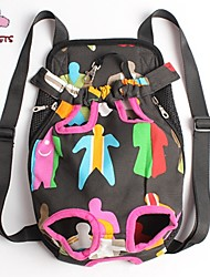 Cat Dog Carrier & Travel Backpack Front Backpack Pet Baskets Portable Cute Multicolor Fabric