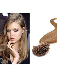 "1pc/lot 18""-30""Brazilian Keratin Nail Tips U Tip Hair Extension Straight 1g/strand 50g/pc"