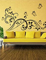 3d papillon stickers muraux Stickers muraux de style et de fleurs en rotin pvc stickers muraux