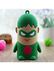 зеленый фонарь 4400 мульти-мощность банк внешняя батарея для iphone6 / Samsung Примечание 4 и других мобильных устройств