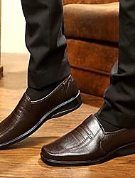 Черный / Коричневый Мужская обувь На каждый день Искусственная кожа Лоферы