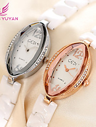 GEDI® Women Fashion Casual Watch Rhinestone Number Genuine Ceramic Watch