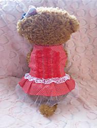 Hunde - Sommer - Baumwolle Rot / Schwarz - Kleider - XS / S / M / L / XL