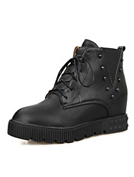 Women's Shoes  Flat Heel Combat Boots/Round Toe Boots Office & Career/Dress/Casual Black/Red/White