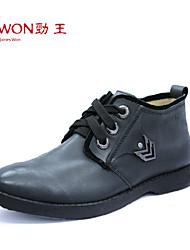 Zapatos de Hombre Exterior/Oficina y Trabajo/Casual Cuero Oxfords Marrón/Negro/Caqui