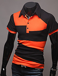 Men's Shirt Collar Casual Shirts , Acrylic/Organic Cotton Short Sleeve Casual Summer CWFM