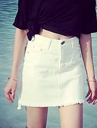 Women's  Sexy   Casual Cute  Jean  Skirt