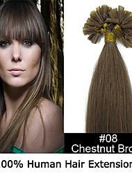 3 Satz 24inch remy Nagelspitze Haar 0,7 g / s Echthaar Haarverlängerungen 8 Farben für Frauen Schönheit