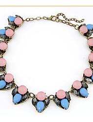YDN Popular Hot Selling Retro Geometric Gem Necklace