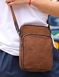 Men 's Canvas Messenger Shoulder Bag - Blue/Brown/Black