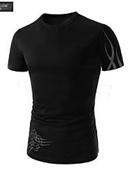 camiseta de la moda de impresión de manga corta jersey camiseta estilo coreano joven camiseta delgada ocasional de jesunlom®man