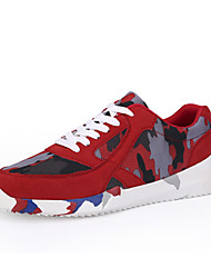 Men's Shoes Outdoor/Athletic Canvas Athletic Shoes Blue/Red/Gray