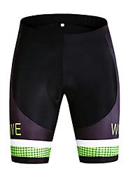 unisex Zomer Wielrennen Shorts Korte broeken Ademend/Sneldrogend/Winddicht/wicking/Beperkt bacterieën/Vermindert schuren Zwart
