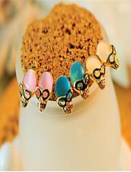 Korean Fashion Personality Opal Skull Earrings Casual Platinum Plated/Gemstone & Crystal Stud Earrings