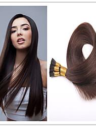 3pcs / lot 1 g / s 100g / pc Stockhaar / i spitzen Haarverlängerung Jungfrau vor-verbundenes Haar Keratin Fusion Kapsel Haar auf Lager